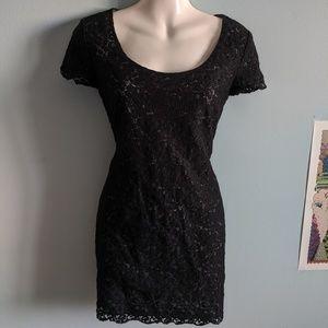 Aritzia talula black lace dress